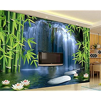 Image of Ai Ya-bihua 3D Wallpaper Bamboo Forest Spring 3D TV Background Living Room Bedroom TV Background Mural Photo Wallpaper for Walls 3 d