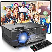 Pansonite Mini Projector with High Brightness Support 1080P and 200'' Display,Portable Projector Compatible with TV...