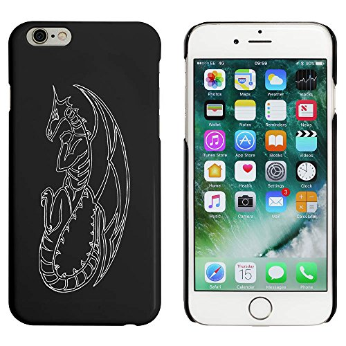 Schwarz 'Drachen Kontur' Hülle für iPhone 6 u. 6s (MC00005345)