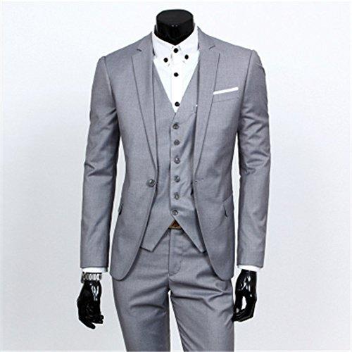 men's Pants Piece amp;blazers Blazer And Suit three suit Jacket Coat Button M Sets Gray Vest Yhnsxz suits blazers men's Wedding One Pants zqPqt0