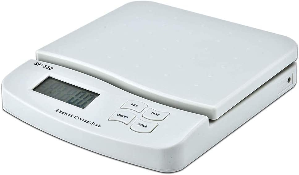 Kitchen Precision Food Scale LCD Digital Scale with AA Battery, White