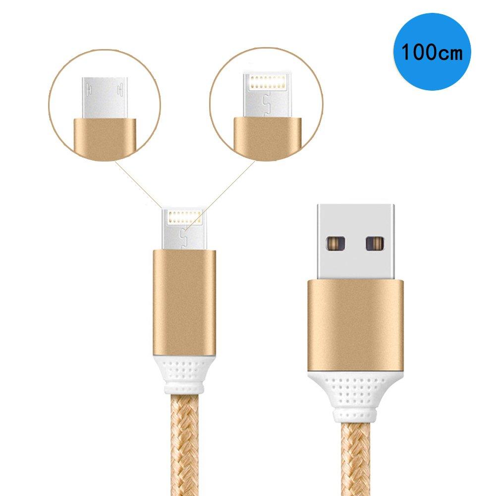 bravetzx Micro USB 8Pin Cable 2 en 1 Cable de Carga USB de ...