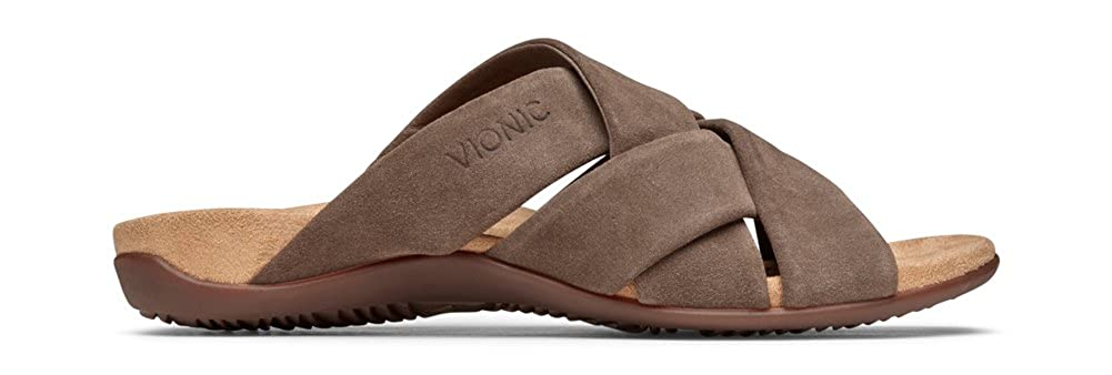 e41e4251b8e0 Amazon.com  Vionic Women s Rest Juno Slide Sandal - Walking Sandals with  Concealed Orthotic Arch Support  Shoes