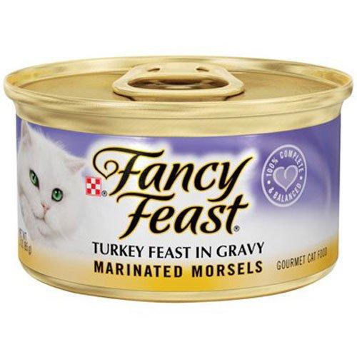 Case of Fancy Feast Marinated Morsels Turkey Feast in Gravy (24 Total)
