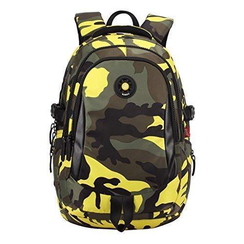 56 opinioni per Zaino per Ragazzi impermeabile Schoolbag Camuffamento Studente Zaino con spalla