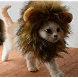 Bello Luna Lion Mane Wig for Dog and Cat Costume Pet Adjustable Washable Comfortable Fancy Lion Hair Dog Clothes Dress for Halloween Christmas Easter Festival Party Activity
