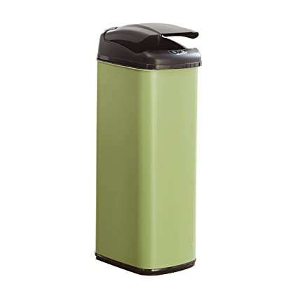 Awesome BrylaneHome 50 Lt Motion Sensor Trash Can Green 0 Model - Latest motion sensor kitchen trash can Contemporary