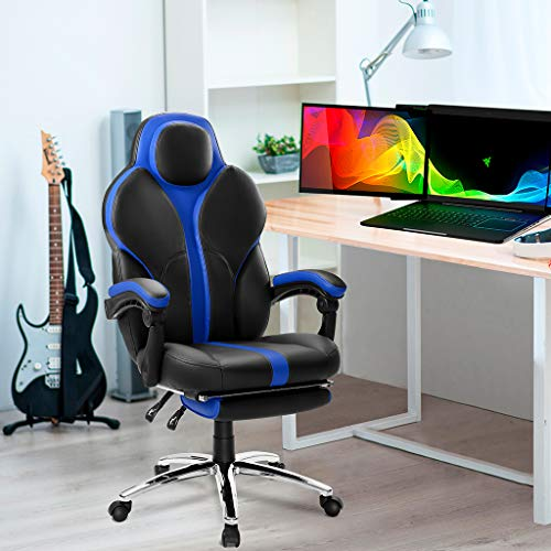 Langria Blue Gaming Chair Office Chair E Sports Chair