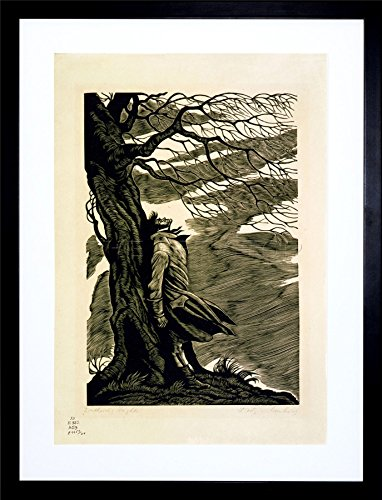 9x7 '' HEATHCLIFF Wuthering Heights Bronte Black White Framed Art Print F97X769