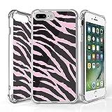 iphone 4 bumper black - iPhone 7 Plus Case, DuroCase AquaFlex 4 Corner Shockproof TPU Bumper w/ Hard Plastic Back Shield 2in1 Hybrid Case (Clear) For Apple iPhone 7Plus - (Zebra Black Light Pink)