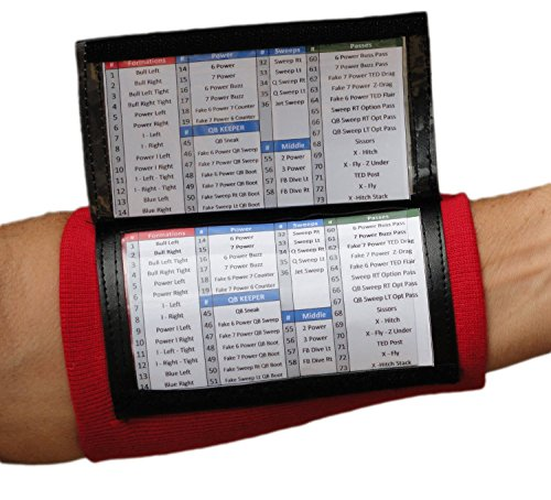 WristCoaches QB Wrist Coach – Playbook Wristband (Youth) – Heavy Duty Football Wristbands for Boys with Three Playsheet Compartments – Perfect for Flag Football and Tackle Football – DiZiSports Store