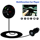 Bluetooth FM Transmitter, JZxin Car FM Transmitter Receiver, Handsfree Calling Wireless FM Car Radio Adapter with Microphone, USB Car Charger for iOS and Android Devices