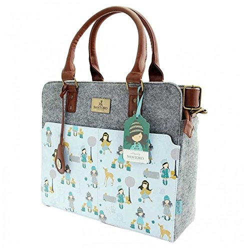 PU Gorjuss Santoro and Woodland Traveller Felt Handbag pvxqxwf0