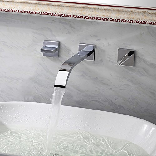 XY&XH Bathroom Sink Faucet ,Bathroom Sink Faucet wall mount Contemporary Widespread design by XY&XH