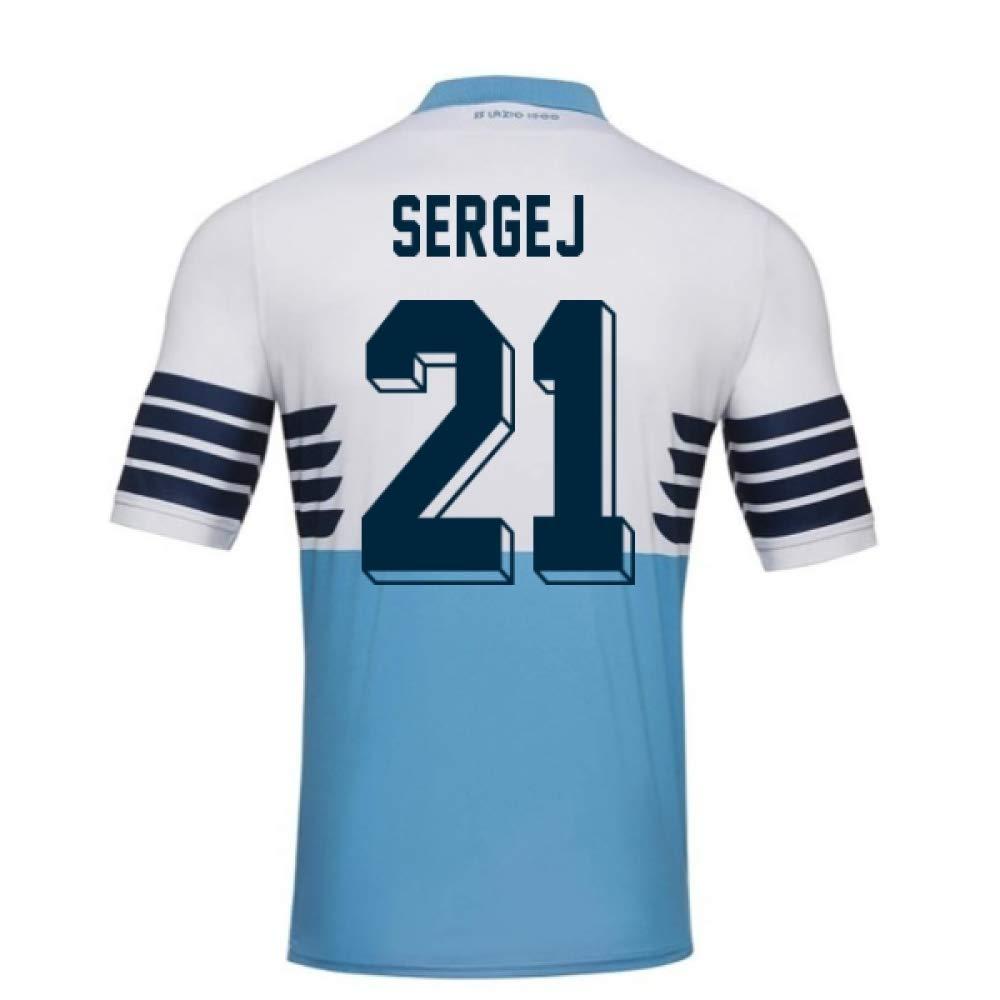 2018-19 Lazio Home Football Soccer T-Shirt Trikot (Sergej Milinkovic-Savic 21)