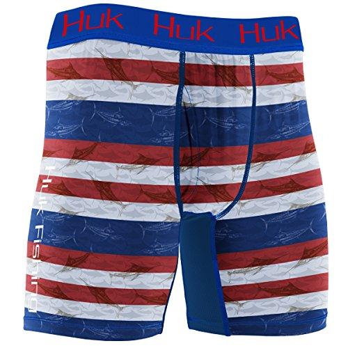 Huk Men's KC Scott Performance Boxer Jock, KC America, ()