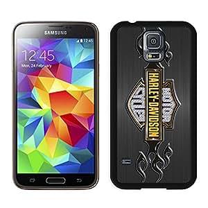 For Samsung Galaxy S5,100% Brand New harley davidson logo Black For Samsung Galaxy S5 i9600 Case