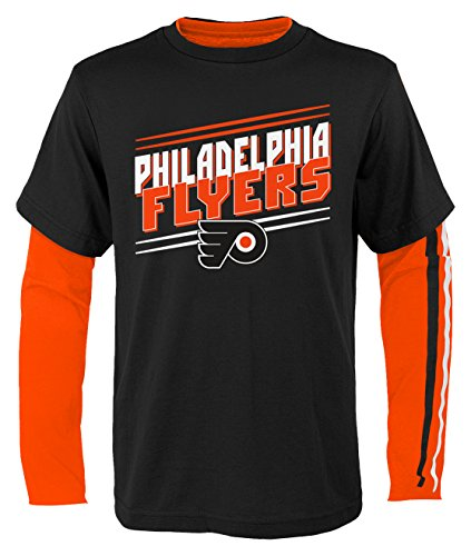 NHL Philadelphia Flyers Youth Boys First Line Tee Shirt Combo Pack, Small(4), Black