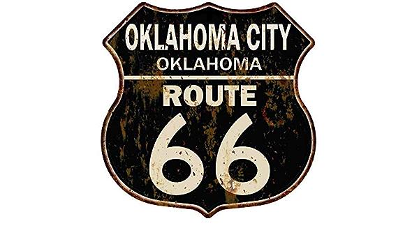 QUAPAW OKLAHOMA Route 66 Shield Metal Sign Man Cave Garage 211110014178