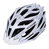 SUNVP Lightweight Bike Helmet Adjustable Road Bicycle Helmet With Removable Chin Pad for Adult Riding Cycling MTB Racing, White Review