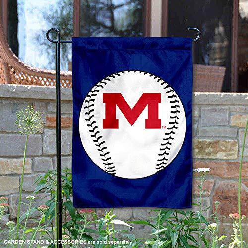 Ole Miss Rebels Baseball Garden Flag and Yard -