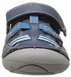 Stride Rite Soft Motion Antonio Sandal (Infant/Toddler),Navy,3 W US Infant
