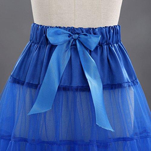 Qi Xs Line Mujeres Miriñaques Edith Petticoats Rockabilly Retro Tutu Real A rodilla xxl Azul 50s Faldas Cancan Enaguas midi d5Zqqwx10n