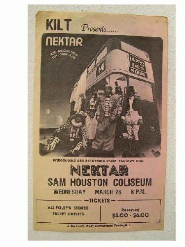- Nektar Handbill Poster Houston Band Shot