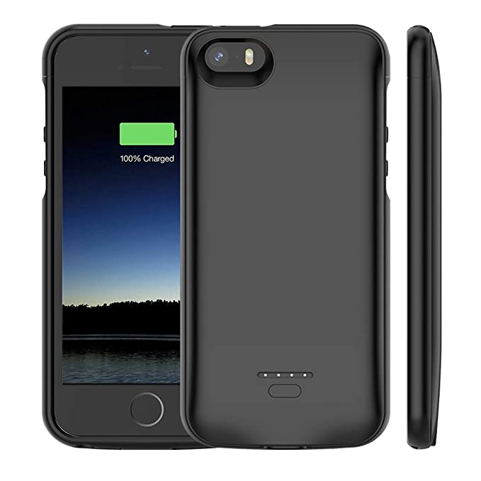 huge selection of 7f9f1 a9834 iPhone 5 /5S /SE Battery Case, Euhan 4000mAh Rechargeable Portable Power  Charging Case iPhone 5 5S SE Extended Battery Pack Charger Case Ultra Thin  ...