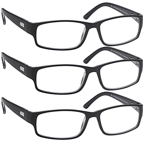 ALTEC VISION 3 Pack Spring Loaded Hinge Readers Reading Glasses - 1.75x