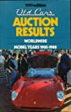 Old Cars Auction Results, 1989, Pubn Inc Krause, 087341117X
