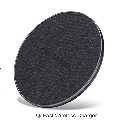 WeCool Wireless Charging Pad for iPhone, Samsung and All Qi Enabled and Qi Integrated, Compatible Smart Phones (Fast Charging) (Dark Grey)