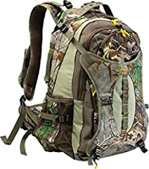 The Canyon Daypack has a 2150 cubic inch capacity and quiet, 240g brushed tricot fabric construction. This hydration ready bag features Realtree Xtra camo, a bow/gun carry system, bright colored lining and zipper pulls to help locate your gea...