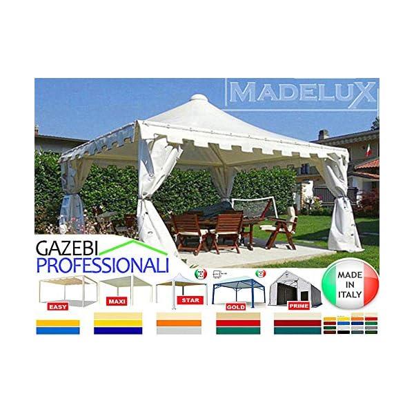 MadeluX Gazebo 6x6 Professionale Certificato e Personalizzabile Stand Eventi Pagoda ignifugo Padiglione pergola tettoia… 6 spesavip