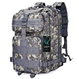 G4Free Sport Outdoor Military Backpack Tactical Backpack Molle Rucksack Camping Hiking Trekking Bag Custom Design 40L(ACU Camouflage)