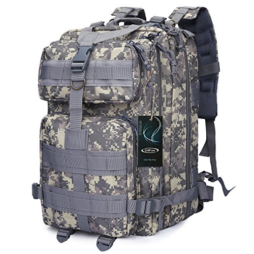 Military Army Camo (G4Free Sport Outdoor heavy bag military backpack tactical backpack Molle Army Backpack Camouflage Backpack acu backpack 40L (ACU Camouflage))