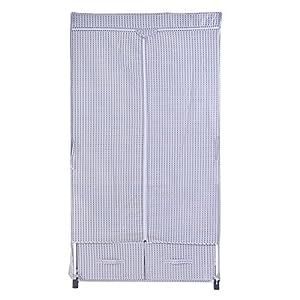 WJP Moderno semplificata w-667armadi, armadi DIY Tessuto Rinforzato Silver Gray DOT Zipper Cotton