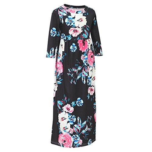 c3ee60afe Jual Beinou Girls 3 4 Sleeve Short Sleeve Non-Sleeve Floral Maxi ...