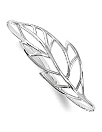 925 Sterling Silver Leaf Palm Bangle Bracelet Cuff Expandable Stackable Slip On Fine Jewelry Gifts For Women For Her
