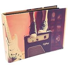 CAIUL Instax Mini Book Album, 50 Pages DIY Photo Album, Anniversary Scrapbook, Wedding Photo Album (Music)