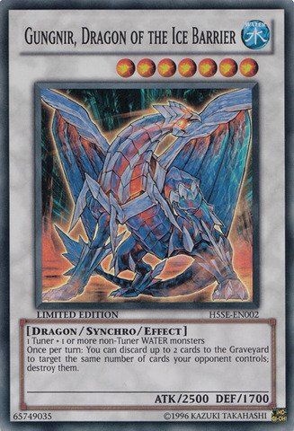Yu-Gi-Oh! - Gungir, Dragon of the Ice Barrier (H5SE-EN002) - Hidden Arsenal 5: Special Edition - Limited Edition - Super Rare