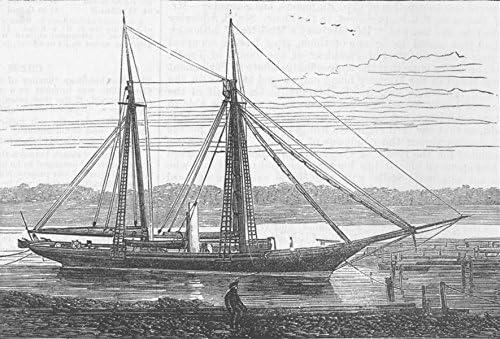 The King of Siam/'s Steam Yacht Vesatri Antique Print 1878