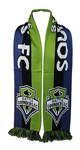 Seattle Sounders FC Crest Scarf, One size, Green, Blue