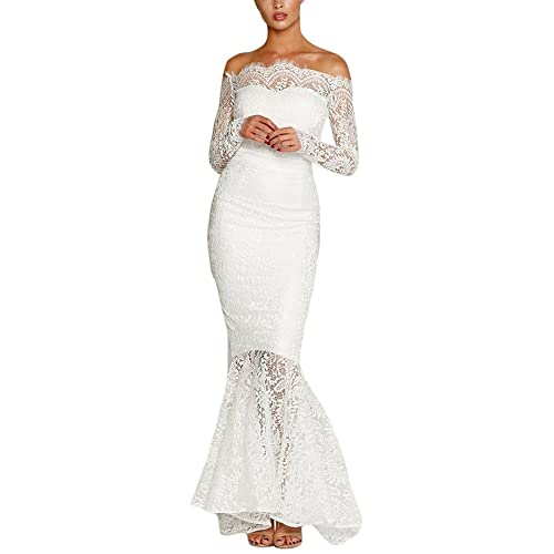 White Lace Dress Long Sleeve: Amazon.com