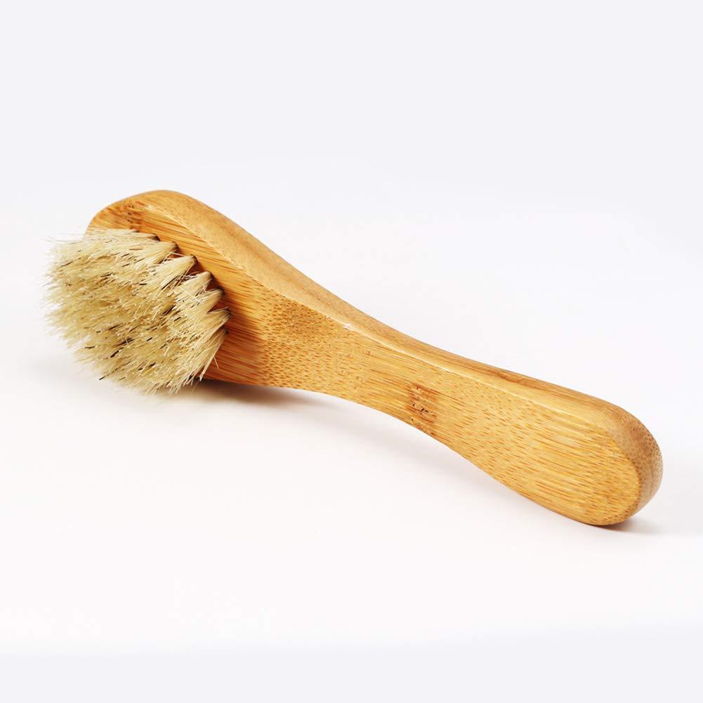 Dastrues Cinghiale di setole Naturali Barba Spazzola di Legno facciale facciale massaggiatore Pennello da Barba Strumento di Pulizia
