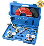 Cirocco Gas Welding and Cutting Torch Kit | Professional Oxygen Acetylene Regulator Torch Welding Soldering Brazing Hand Facing Tool Set Portable with Case for Amateur Metal worker Seasoned Welder