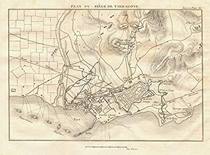 Amazon Com Plan Of The Siege Of Tarragona In 1811 Catalonia Spain