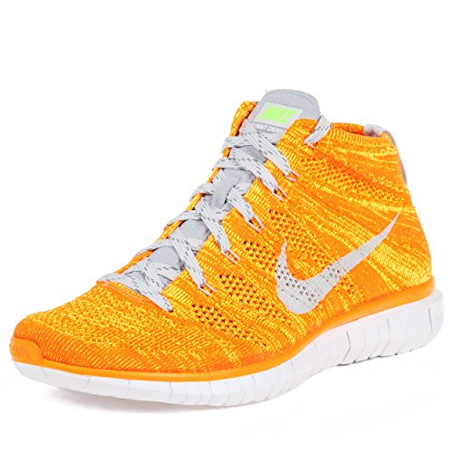 9b77791562e4fd Nike Free Flynit Chukka Men s Shoes Total Orange Volt White Light Base Grey  639700-800 (SIZE  12) - Buy Online in Oman.