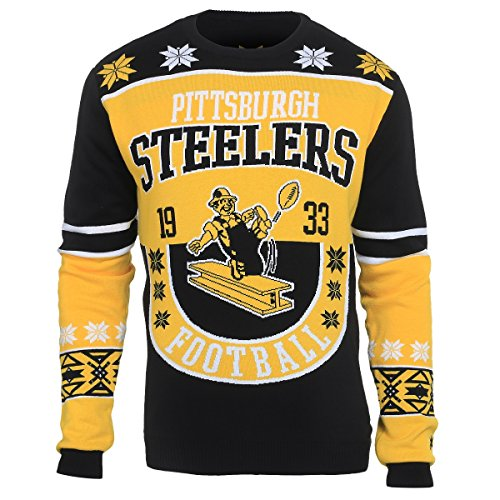 NFL Pittsburgh STEELERS Unisex NFL Cotton Retro Sweater, Small