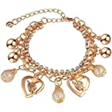Shining Diva Fashion Crystal Collection Gold Plated Charm Bracelet for Women (Golden)(rrsd8047b)